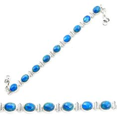 925 sterling silver natural blue shattuckite tennis bracelet jewelry m58584