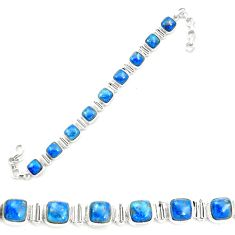 925 sterling silver natural blue shattuckite tennis bracelet jewelry m58589