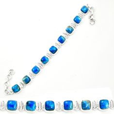 925 sterling silver natural blue shattuckite tennis bracelet jewelry m58593