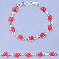 Natural honey onyx 925 sterling silver tennis bracelet jewelry m67291