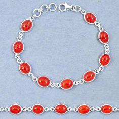Natural honey onyx 925 sterling silver tennis bracelet jewelry m67311