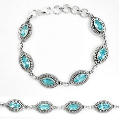 925 sterling silver natural blue topaz tennis bracelet jewelry m82412