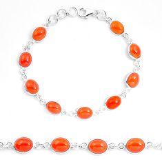 Natural honey onyx 925 sterling silver tennis bracelet jewelry m83922