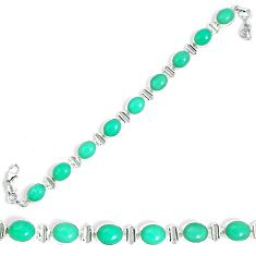 925 sterling silver natural green chrysoprase tennis bracelet jewelry m86195