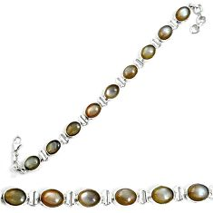 925 sterling silver natural grey moonstone oval tennis bracelet jewelry m86206