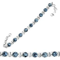 925 sterling silver natural black australian obsidian tennis bracelet m86232