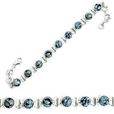 925 sterling silver natural black australian obsidian tennis bracelet m86237