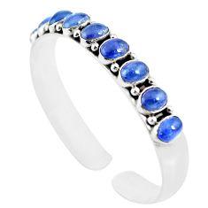18.07cts natural blue tanzanite 925 sterling silver adjustable bangle m95431