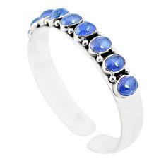 925 sterling silver 18.62cts natural blue tanzanite adjustable bangle m95433
