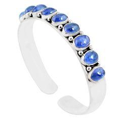 20.23cts natural blue tanzanite 925 sterling silver adjustable bangle m95434