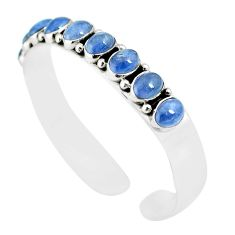 18.23cts natural blue tanzanite 925 sterling silver adjustable bangle m95435