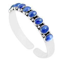 925 sterling silver 18.80cts natural blue tanzanite adjustable bangle m95436
