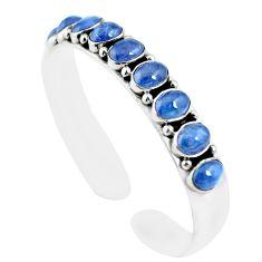 18.23cts natural blue tanzanite 925 sterling silver adjustable bangle m95437