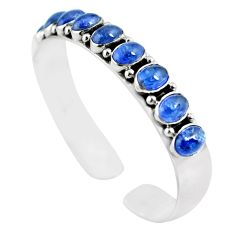18.62cts natural blue tanzanite 925 sterling silver adjustable bangle m95438