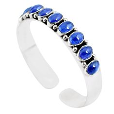 925 sterling silver 18.62cts natural blue tanzanite adjustable bangle m95439