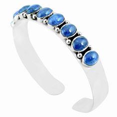 18.62cts natural blue tanzanite 925 sterling silver adjustable bangle m95440