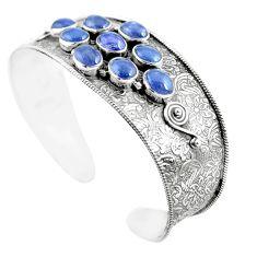 20.15cts natural blue tanzanite 925 sterling silver adjustable bangle m96431
