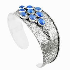 18.20cts natural blue tanzanite 925 sterling silver adjustable bangle m96434