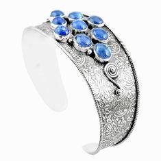 20.17cts natural blue tanzanite 925 sterling silver adjustable bangle m96436