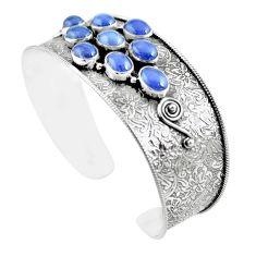 20.77cts natural blue tanzanite 925 sterling silver adjustable bangle m96437