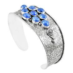 925 sterling silver 18.95cts natural blue tanzanite adjustable bangle m96438