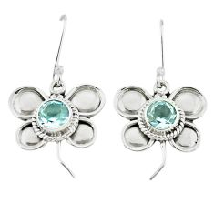 925 sterling silver natural blue topaz dangle earrings jewelry m12518