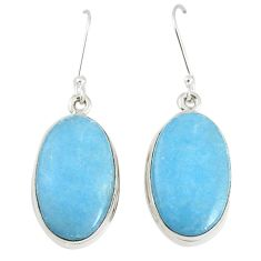 Natural blue angelite 925 sterling silver dangle earrings jewelry m18221