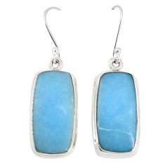 Natural blue angelite 925 sterling silver dangle earrings jewelry m18225