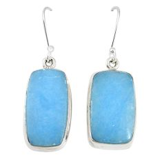 Natural blue angelite 925 sterling silver dangle earrings jewelry m18228
