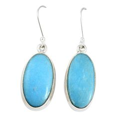 Natural blue angelite 925 sterling silver dangle earrings jewelry m18238