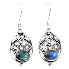 Natural blue labradorite 925 sterling silver dangle earrings jewelry m21385