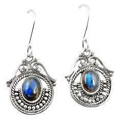 925 sterling silver natural blue labradorite dangle earrings jewelry m42505