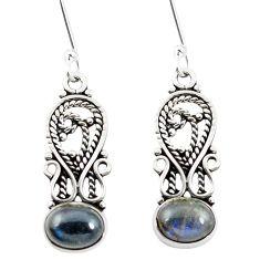 Natural blue labradorite 925 sterling silver dangle earrings m42536