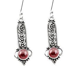 925 sterling silver natural red garnet dangle earrings jewelry m42831