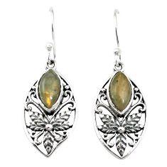 Natural blue labradorite 925 sterling silver dangle earrings m46223