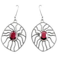 Natural green garnet 925 sterling silver dangle earrings jewelry m48646