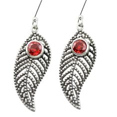 Natural red garnet 925 sterling silver dangle earrings jewelry m52017