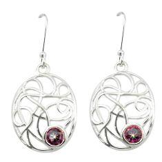 Multi color rainbow topaz 925 sterling silver dangle earrings m52088