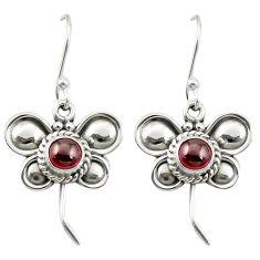 Natural purple amethyst 925 sterling silver butterfly earrings m53424
