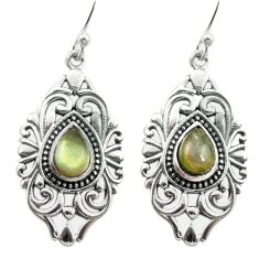 Natural blue labradorite 925 sterling silver dangle earrings m54636