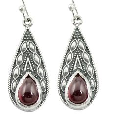 Natural green garnet 925 sterling silver dangle earrings jewelry m54707