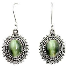 Green cats eye 925 sterling silver dangle earrings jewelry m62888