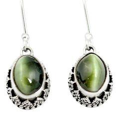 925 sterling silver green cats eye dangle earrings jewelry m62896