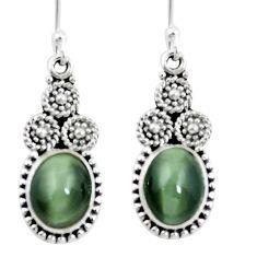 925 sterling silver green cats eye dangle earrings jewelry m64144