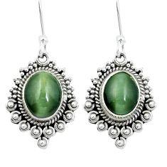 Green cats eye 925 sterling silver dangle earrings jewelry m64146