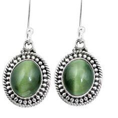 925 sterling silver green cats eye dangle earrings jewelry m64149