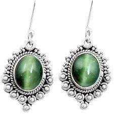 925 sterling silver green cats eye dangle earrings jewelry m64159