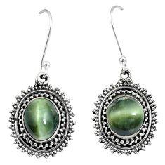 Green cats eye 925 sterling silver dangle earrings jewelry m64322