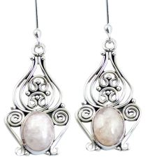 8.61cts natural pink morganite 925 sterling silver dangle earrings m65278