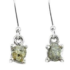 1.81cts natural diamond rough 925 sterling silver dangle earrings jewelry m68009